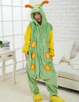 adult caterpillar costume - animal Caterpillars Coral Fleece jumpsuits winter Warm insect plus size Pyjamas Tracksuit Costume lovely adult cosplay onesies