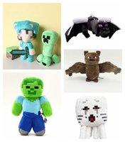 Wholesale Minecraft Core Plush Doll Cartoon Toy Steve inch Dragon Spider Bat Diamond Sword Toys My World Gifts for kids Children Factory price