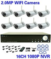 Wholesale New CH H HD P Network NVR pieces MegaPixel Full HD P IR Waterproof CCTV Network IP Camera System kit