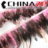 baby chicken costumes - CHINAZP Crafts Factory yards Good Quality Dyed Baby Pink and Natural Chicken Rooster Saddle Feather fringe