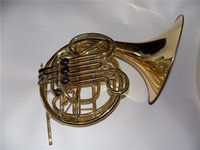 Wholesale 4 Valves Double Row French Horn in Bb Tone With foambody case and mouthpiece EMS Musical instruments
