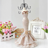 Mannequin mannequin jewelry holder - Mannequin Jewelry Holder Display Stand Racks quot Polyresin dress model Doll Organizer Lady good Gift