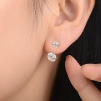 Wholesale 2016 Brand New FASHION k gold silver spherical Crystal Flower Stud Earrings for Women