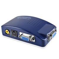 Wholesale PC Laptop MAC VGA to TV AV Composite RCA S Video Signal Converter Adapter Box