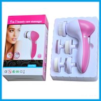 Wholesale 5in1 Multifunction Electric Face Facial Cleansing Brush Spa Skin Care Massage