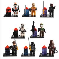 Wholesale 8 Set StarWars Series Minifigures DARTH VADER MAUL C PO CLONE Building Blocks Minifigures children Toys