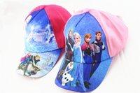 Wholesale New Frozen Cartoon Hat Children s Baseball Caps Velcro Adjustable Hat Travel Hat