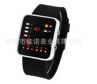Wholesale Hot sell A5871 classic fashion LED sports watch Binary led watch belt cool couples watches originality student watch