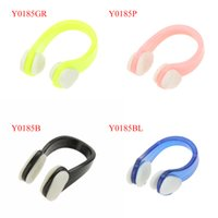 Wholesale Waterproof Protective Clip Soft Swimming Nose Clip Earplugs Set with Box Carry Y0185