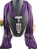 Wholesale 2015 hot sale Pendant owl scarf women autumn and winter tassel scarf female polyester ring scarf fashion gift for christmas free