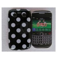 bb 9700 - Hot Sale Cute Lovely TPU Polka Dots Style Back Skin Cover Case for Blackberry BB Soft Phone Case Free