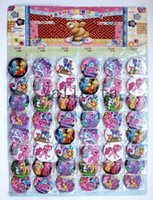 Wholesale HOT Sale Sheets Cute Pink My little pony Cartoon Pin Badge MM party Gfit and DHL