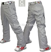 Wholesale Gsou snow mens coffee ski pants blue snowboarding pants for men yellow sports trousers waterproof K windproof free ship