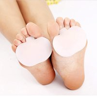 silicone insole foot care - Foot Care Silicone Insoles Forefoot Pain Relief Pair Massaging Gel Metatarsal Toe Support Pads Insoles Forefoot H11334