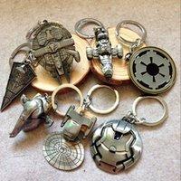 Wholesale 2016 Hot Star Wars Spaceship Logo Keychain Euro American Movie Star Wars Ship Pendant Keychain Metal Key Chain
