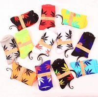 Cheap 40pcs=20pairs HUF plantlife women Stockings cotton maple leaf towel bottom fashion skateboarding men socks Cheap 40767463087 201410hql