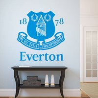Wholesale NEW arrival The Premier League EVERTON team logo background wall sticker decal