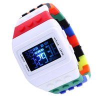 cheap digital watches - Best Selling LED Digital Wristwatches with Quartz Battery Cheap LED Watches Glass Surface LED Watch Digital for Sale QC01