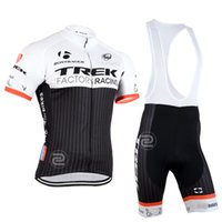 ropa - 2015 TREK FACTORY RACING TEAM BLACK T24 SHORT SLEEVE CYCLING JERSEY SUMMER CYCLING WEAR ROPA CICLISMO BIB SHORTS D GEL PAD SET SIZE XS XL