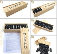 Wholesale Board Toys Dominoes toys Board Toys Fashion High Standards of Dominoes toys Fashion Children Wooden Box with Black Dominoes Teaching AIDS