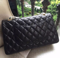 channel - Classic Quilted Chain CM Jumbo Lambskin Double Flaps Channel Shoulder Bags Women Bag Crossbody bag