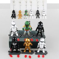 big moving boxes - Star Wars Keychain star wars action figures plug Hands and feet moving with light LED Luminous key ring Chain Key Pendant with box C197