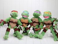 big don - 4pcs cm TMNT Teenage Mutant Turtles Raph Leo Mikey Don Plush Toys Soft Stuffed Dolls