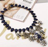 pendant flower rhinestone - Fashion Vintage Flower Sweet Heart Rhinestone Bronze Gem Pendant Necklace