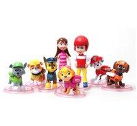baby toys dog - 8pcs Baby Kids Toy Joints Movable patrulla canina toys Puppy Patrol Dog With Plate Action Figures Doll Plastic Play Set