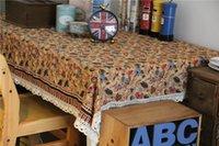 lace tablecloth - 2014 new LUCK100 European American Such as cotton lace tablecloth golden autumn Tablecloths table cloth sofa toalha de mesa