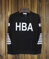 air circles - Fashion HOOD BY AIR HBA Hoodies spring autumn couples round Neck Circles casual pullover black Men HIP HOP Sweatshirts sportwear