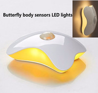 bedroom chests - The butterfly human body induction lamp ambry chest lamp LED small night light night light on a charge of bedroom the head of a bed