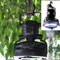 2015 2 in1 Carpa 18LED portátil luz del campo con Ventilador de techo al aire libre Senderismo Latern luz al aire libre