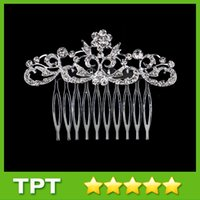 Wholesale Simple Design Crystal Bridal Wedding Tiaras Fashion Crystal Women Hair Comb Wedding Jewelry Lady Hair Combs for Formal Occassions fs046