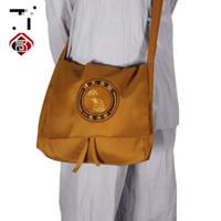 Wholesale cm Buddhist Monk Satchel Lay Robes Multi function Buddhist Shoulder Bags Lohan Satchel Monks Bag