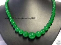Wholesale Exquisite Green Jade Gems Jewelry Necklace quot