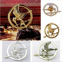 Wholesale 1000 BBA4888 fashion Unisex Hunger Games Mockingjay Pin Hunger Game metal brooch hotsale retro Hunger Games Mockingjay Pin metal brooch gift