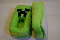 plush slippers - Unisex Minecraft Creeper Warm Plush Slippers