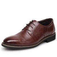 Wholesale 2016 NEW Handmad Genuine Leather Men Oxfod Shoes Lace Up Casual Business Men Shoes Brand Men Wedding Shoes Men Dress Shoes
