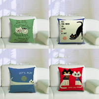 Wholesale Hot Sale Cute Cat Pattern Throw Pillow Case Cushion Cover Christmas Decor Gift NVIE order lt no track