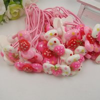 baby products - New product mm Resin strawberry bow tie Kids Accessories Baby Girl Princess Hair Bands Headwear