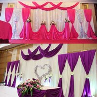 drapes curtains - Wedding Party Background Fabric Satin Curtain Drape Stage Wall Podium Backdrop wd601