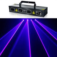 2015 4 lente de gran alcance 4W Color Rojo Azul Scan 4000 MW RGB DMX etapa del laser de DJ de la demostración de la iluminación de luz completa del flash espectáculo de luz