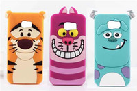 apple core duo - 3D Cartoon Monsters Sulley Tigger Alice Cat Silicone Case For Samsung Galaxy S6 Edge A3 A5 A7 Grand Duos G7106 i9082 Core Prime G360 G530