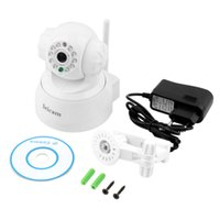 Wholesale White LED WIFI Wireless IP Webcam Camera Night Vision Cam CMOS pixel Hot Selling