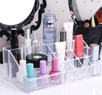 acrylic cosmetic display - Clear Acrylic lipstick eyebrow pencil Holder Display Stand Cosmetic Organizer Makeup Case