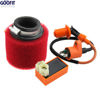 Cheap GOOFIT 6-pin CDI Ignition Coil and Air Filter for GY6 50cc 60cc80cc 125cc150cc ATV Dirt Bike Go Kart Moped and Scooter Group-66 order<$18no