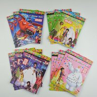 Wholesale 12pcs Big hero Frozen Peppa Stickers Coloring book Children Coloring Books kinds of styles book opp packing