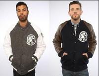 Cheap winter men brand wool coat men urban clothing leather sleeve letterman jackets varsity baseball billionaire boys club jacket