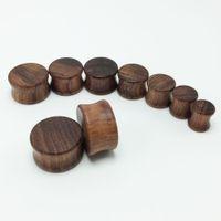 Men's big gauges - 70pcs set fashion men s wooden ear plugs tunnels big ear gauges expanders mm mm ear stretchers natural brown wood color for men